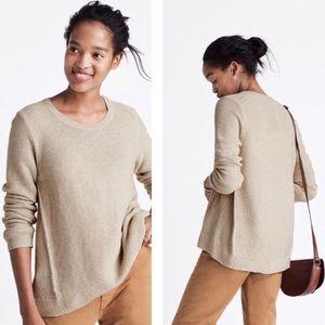 Madewell Riverside Textured Sweater Cream Beige M